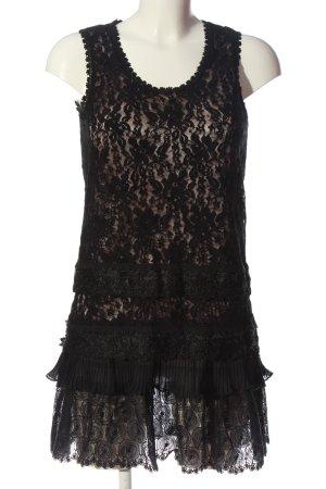 Vero Moda Long-Bluse schwarz Blumenmuster Elegant