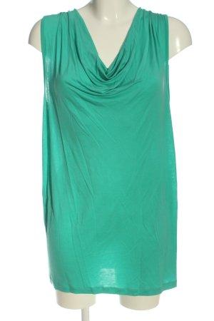 Vero Moda Long-Bluse türkis Casual-Look