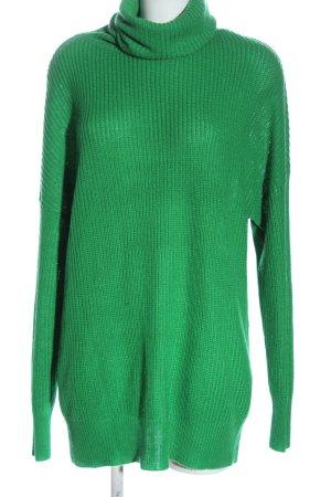 Vero Moda Long Sweater green cable stitch casual look