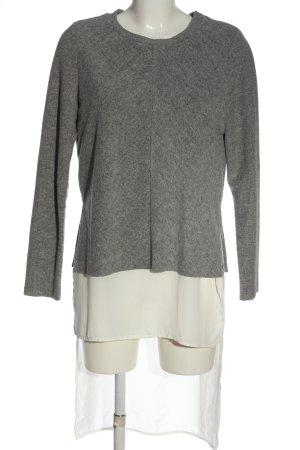 Vero Moda Jersey largo gris claro-blanco moteado look casual