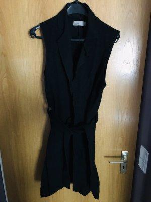 Vero Moda Długi sweter bez rękawów czarny