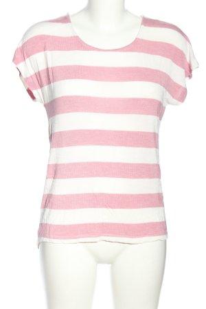Vero Moda Longshirt pink-weiß Streifenmuster Casual-Look