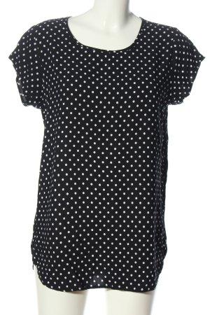 Vero Moda Longshirt schwarz-weiß Punktemuster Casual-Look
