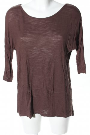 Vero Moda Lang shirt bruin casual uitstraling