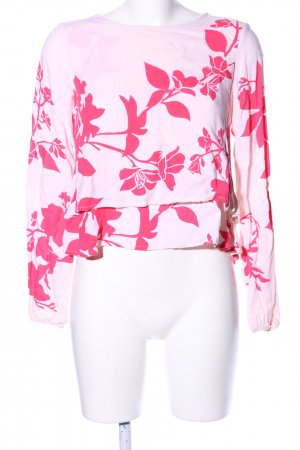 Vero Moda Longsleeve pink Blumenmuster Casual-Look