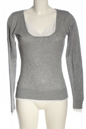 Vero Moda Longsleeve light grey-natural white flecked casual look