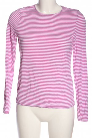 Vero Moda Longsleeve pink-weiß Allover-Druck Casual-Look