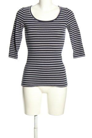 Vero Moda Longsleeve schwarz-weiß Streifenmuster Casual-Look