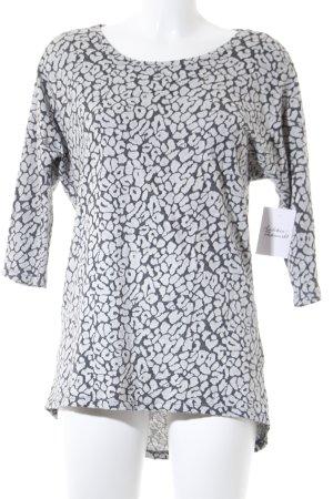 Vero Moda Longsleeve silberfarben-grau abstraktes Muster Casual-Look