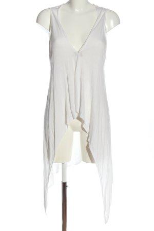 Vero Moda Gilet long tricoté blanc style décontracté