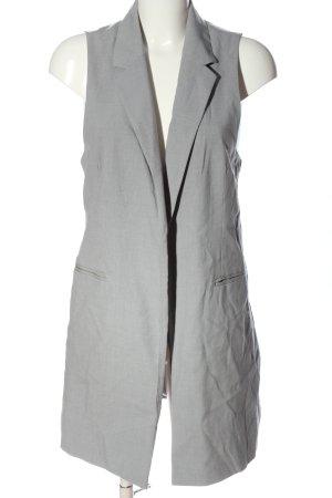 Vero Moda Gilet long tricoté gris clair style décontracté