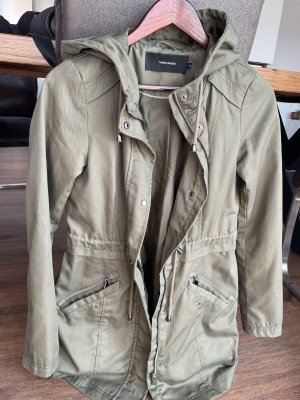 Vero Moda Hooded Coat green grey