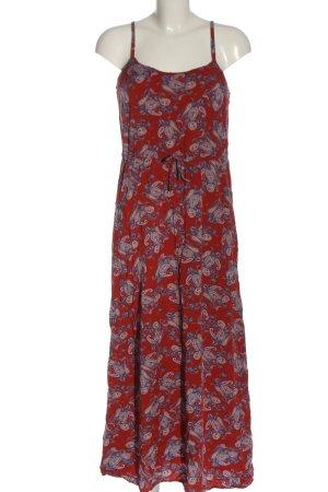 Vero Moda Vestido largo rojo-azul estampado repetido sobre toda la superficie