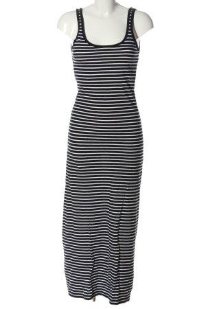 Vero Moda Maxikleid schwarz-weiß Streifenmuster Casual-Look