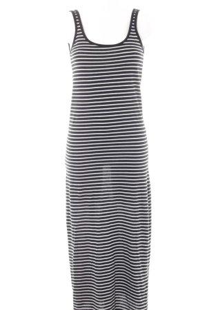 Vero Moda Maxikleid weiß-schwarz Streifenmuster schlichter Stil