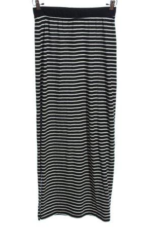 Vero Moda Maxi gonna nero-bianco motivo a righe stile casual
