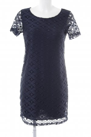 Vero Moda Midikleid dunkelblau abstraktes Muster Casual-Look