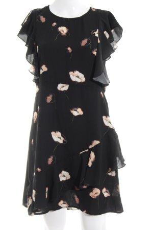 Vero Moda Midikleid schwarz-nude Blumenmuster Elegant