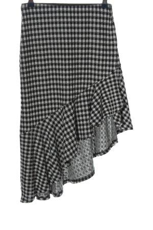 Vero Moda Midirock schwarz-weiß Allover-Druck Elegant