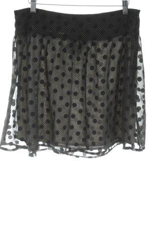 Vero Moda Midirock schwarz-weiß Punktemuster Vintage-Look