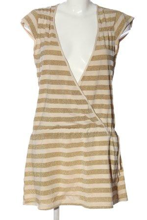 Vero Moda Minikleid goldfarben-creme Streifenmuster Casual-Look