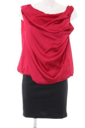 Vero Moda Minikleid rot-schwarz Business-Look
