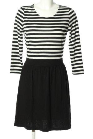 Vero Moda Minikleid weiß-schwarz Streifenmuster Casual-Look