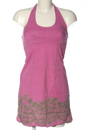 Vero Moda Minikleid pink-hellgrau Motivdruck Casual-Look
