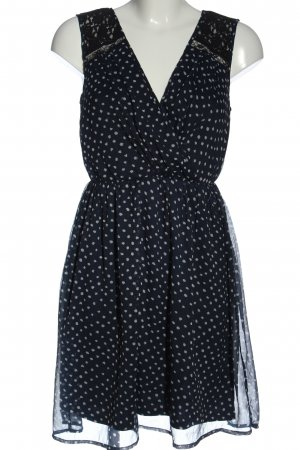 Vero Moda Minikleid blau-wollweiß abstraktes Muster Elegant