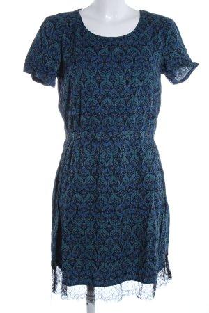 Vero Moda Minikleid blau-türkis abstraktes Muster Casual-Look