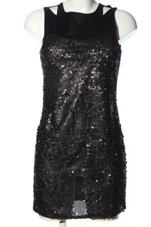 Vero Moda Minikleid schwarz Glanz-Optik