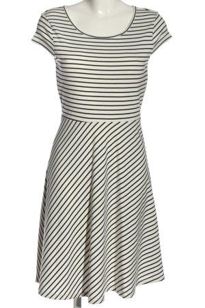 Vero Moda Minikleid weiß-schwarz Streifenmuster Elegant