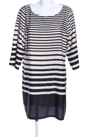 Vero Moda Minikleid schwarz-weiß Streifenmuster Casual-Look