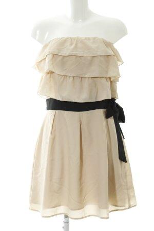 Vero Moda Minikleid beige-schwarz Elegant