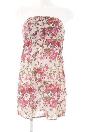 Vero Moda Minikleid Blumenmuster Zierknöpfe