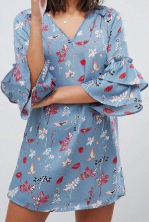Vero Moda Minikleid Blumenmuster blau 38 / M neu