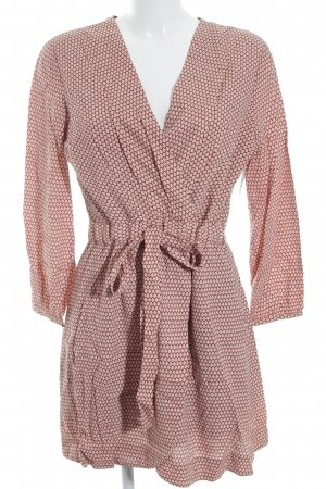 Vero Moda Minikleid braunrot-apricot abstraktes Muster