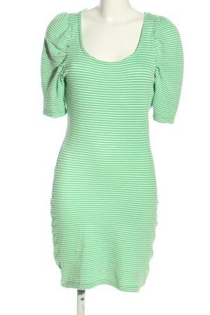 Vero Moda Minikleid grün Streifenmuster Casual-Look