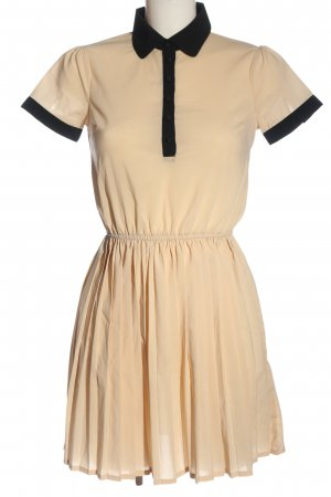 Vero Moda Minikleid creme-schwarz Casual-Look
