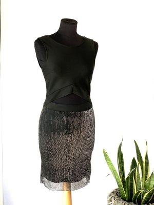 Vero Moda Minikleid schwarz Glitzer mit Cutout