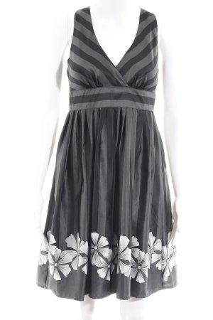 Vero Moda Minikleid schwarz-graublau Blumenmuster Party-Look