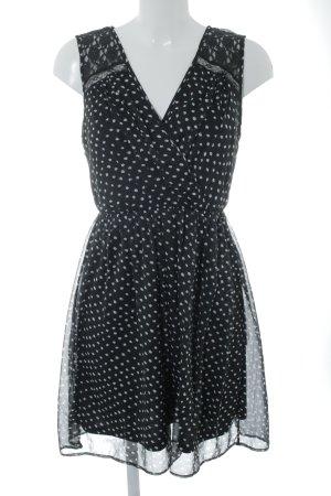 Vero Moda Minikleid schwarz-weiß Punktemuster Casual-Look