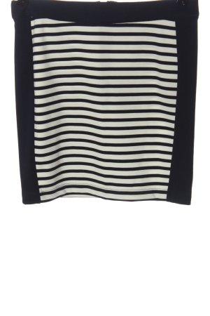 Vero Moda Minirock schwarz-wollweiß Streifenmuster Casual-Look