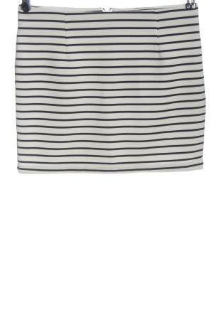 Vero Moda Minirock schwarz-weiß Streifenmuster Casual-Look