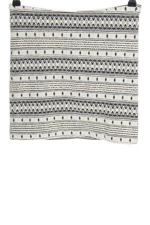Vero Moda Minirock weiß-schwarz grafisches Muster Casual-Look