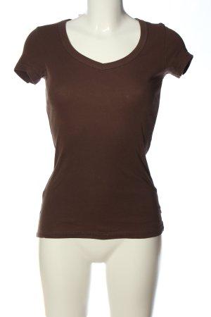 Vero Moda V-Ausschnitt-Shirt braun Casual-Look