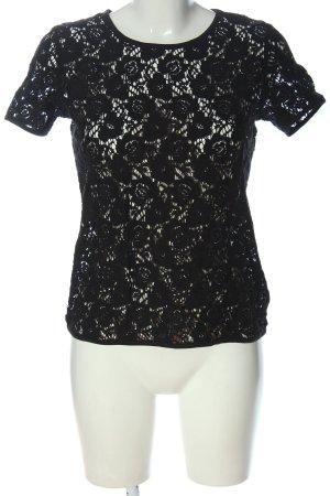 Vero Moda Siateczkowa koszulka czarny W stylu casual