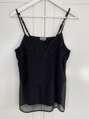 Vero Moda Oberteil in schwarz mit Steinchen