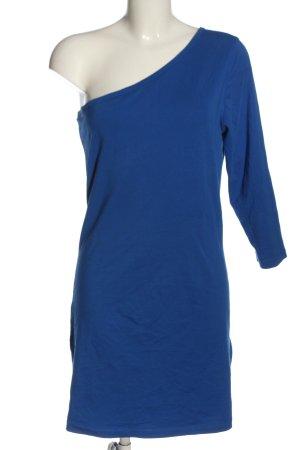 Vero Moda Vestido de un hombro azul look casual