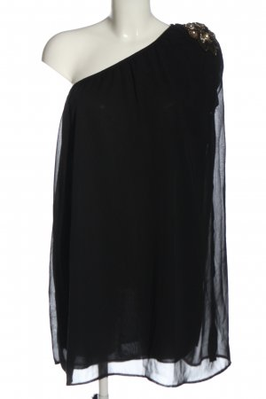 Vero Moda Sukienka na jedno ramię czarny Elegancki